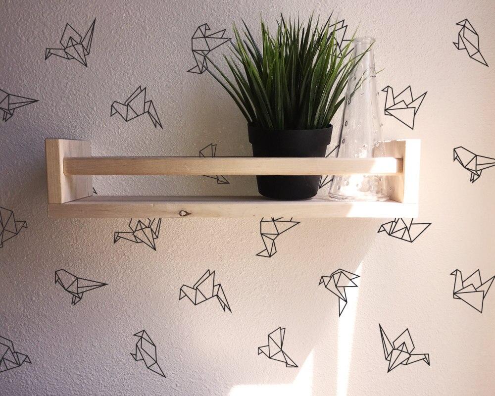 45 pçs/set 9 Origami Geométrico Estilo Diferente decalques de parede Vinil adesivo De Parede Para O Quarto Dos Miúdos adesivo de parede Mural Decor D995