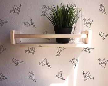 45 pièces/ensemble 9 Style différent géométrique Origami stickers muraux vinyle sticker Mural pour enfants chambre adesivo de parede Mural décor D995
