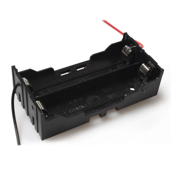 100PCS/lot Wholesale Plastic DIY 18650 Battery Box With Wire Lead For 2 x 18650 Box Holder Leads Eletronic Digital