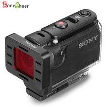UV CPL ND4 ND8 ND16 다이빙 빨간색 노란색 마젠타 색 그라디언트 회색 필터 Sony AS50 AS50R AS300 AS300R FDR X3000R 캠 액세서리