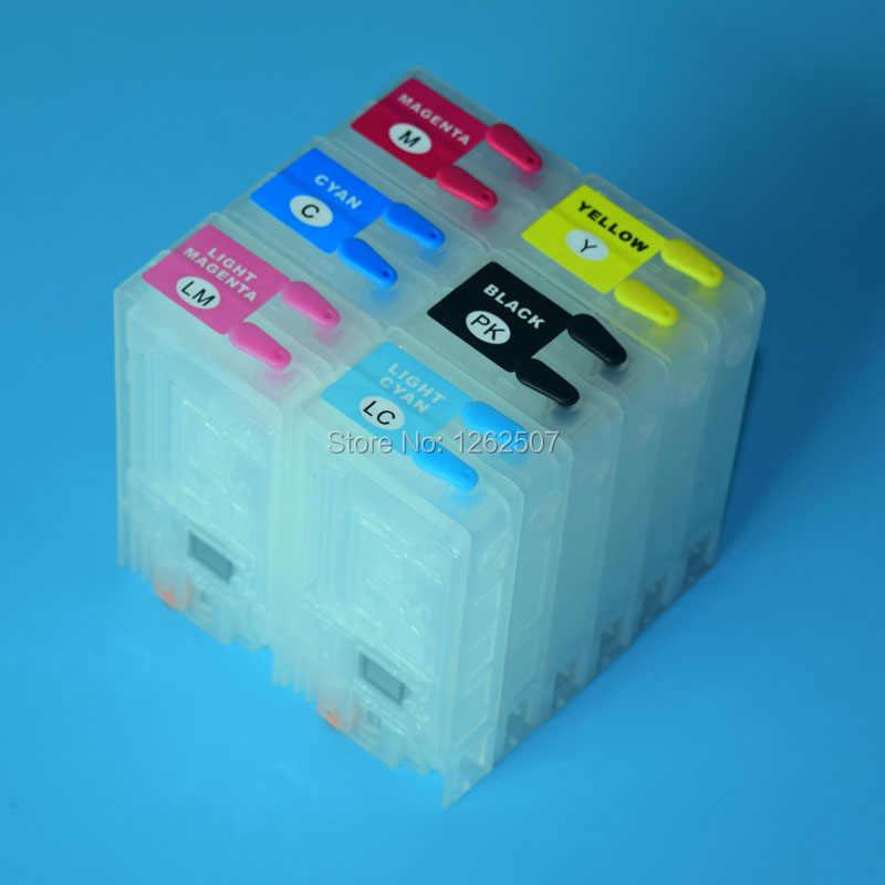 pp100 Refillable ink cartridge For Epson pp100 printer empty cartridge For  Epson PJIC1-PJIC6 without chip