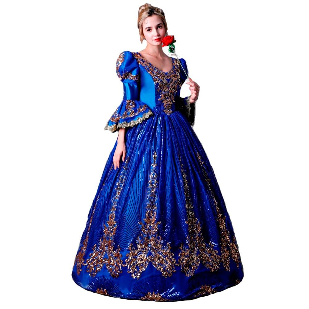 Soirée Robe Mascarade Bal Femmes Tenues Formelle robe Costume Cour De Party Princesse Renaissance rouge Vert On80PXwNk