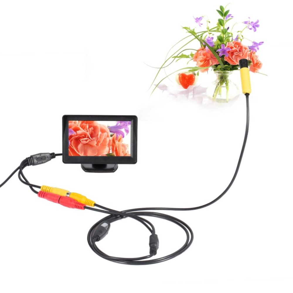 Mini Waterproof Endoscope 10mm Inspection Hard Cable Camera and TFT Color Monitor HD Endoscope For Android Phone PCMini Waterproof Endoscope 10mm Inspection Hard Cable Camera and TFT Color Monitor HD Endoscope For Android Phone PC