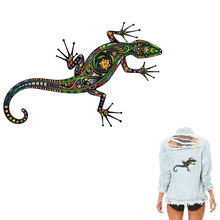 COSBILL Lizard Animal Patches For Clothing A- level Washable Patch DIY Iron on Clothes Sticker Accessory Heat Transfers Y-054