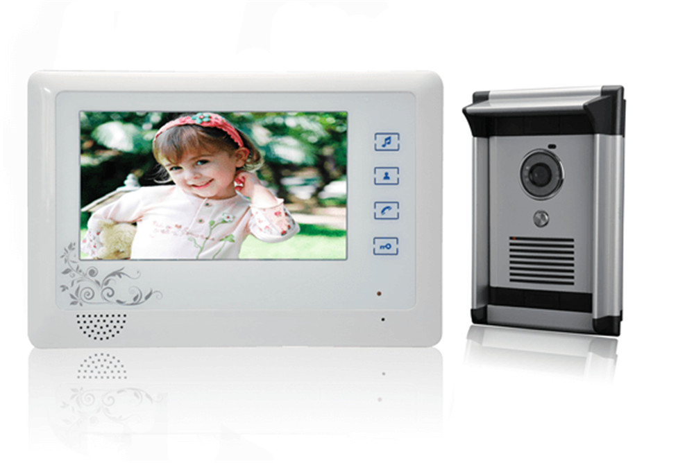 7 inch Screen 600TVL Outdoor Camera Intercom Video Door Phone