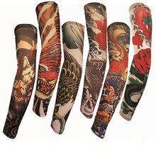 Татуировка рукава руки мужчины рукав прямой унисекс УФ Защита общий открытый временный рукав с татуировками Мужские рукава Вечерние