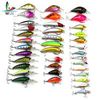 37pcs Fly Fishing Lure Set Minnow Crank Bait Bass Baits High Carbon Steel Treble Hook Wobblers Feeder Fishing Accessories