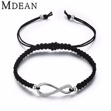 MDEAN white gold Color Bracelets for women fashion jewelry with rope chain women bracelet femme vintage Accessories MSB021