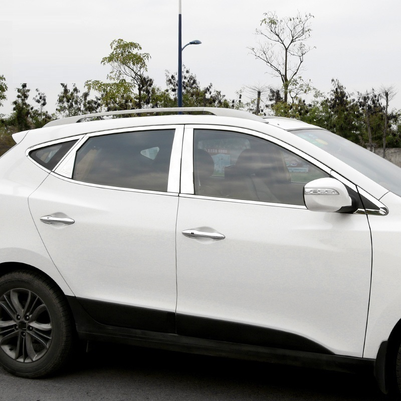 車のクロムスタイリング窓トリム修正された修正修理された外装部品装飾装飾現代 IX35  グループ上の 自動車 &バイク からの クロムスタイリング の中 1