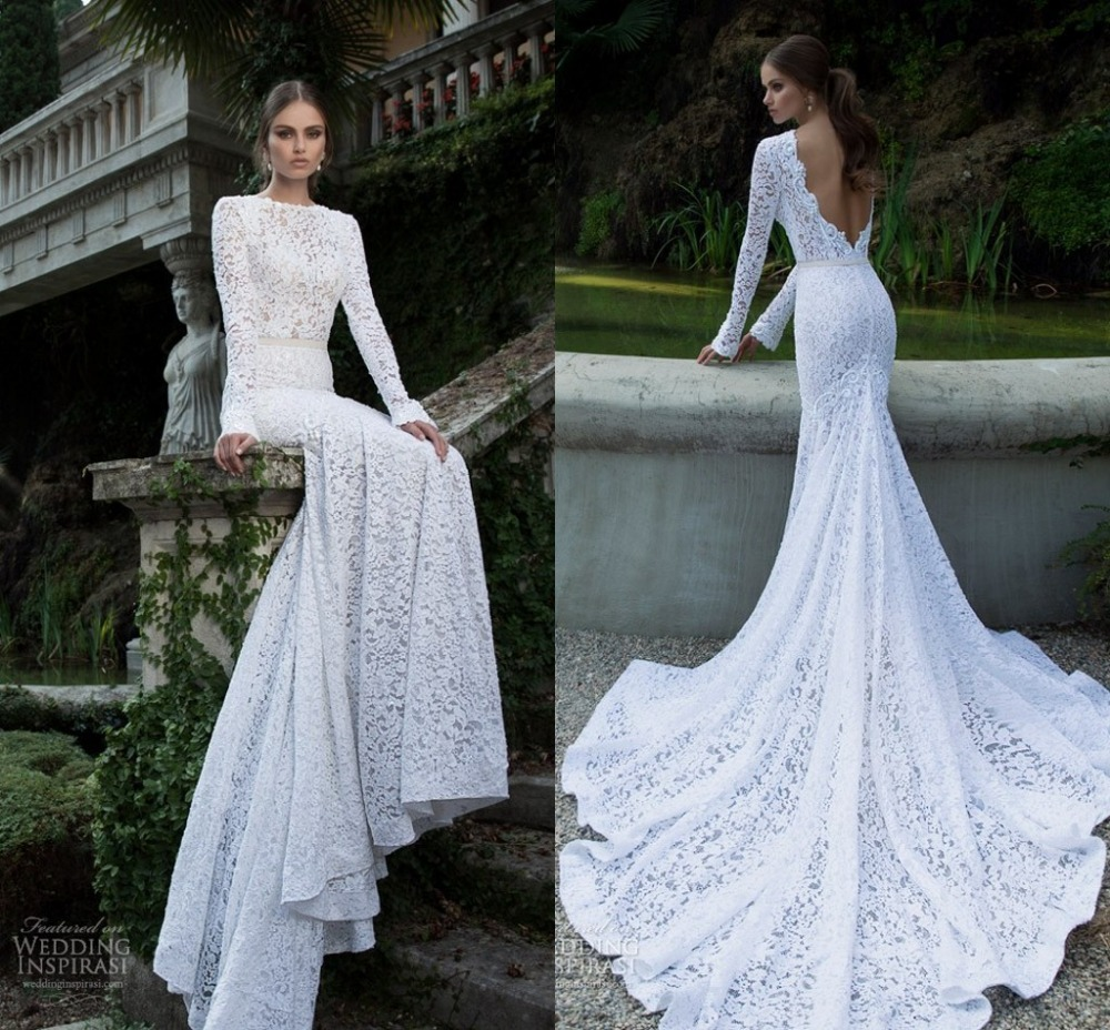 Wedding Gowns 2014: 2014 New Vintage Bridal Gowns Custom Made Ivory Lace Long