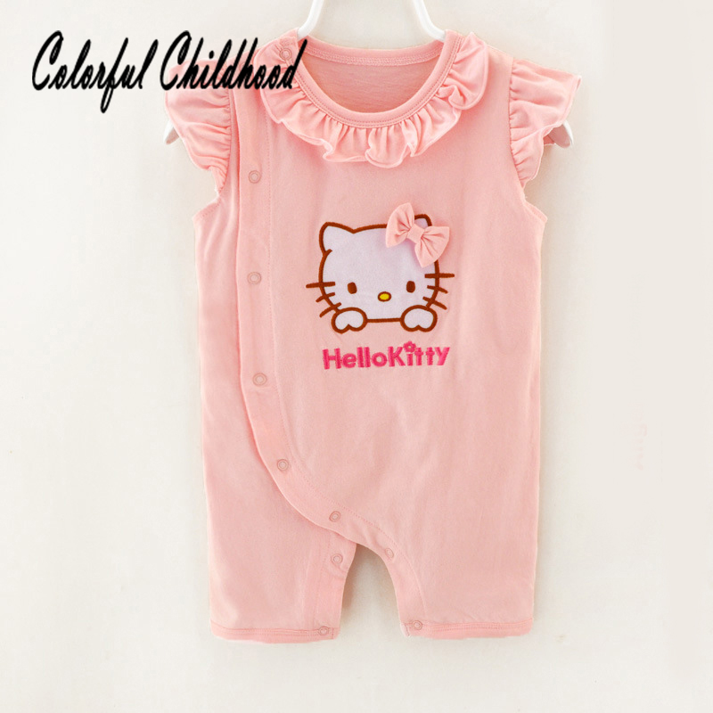 Kawaii Infant Baby Girls Bodysuits All-in-ones Romper One-piece Outfits 0-24M
