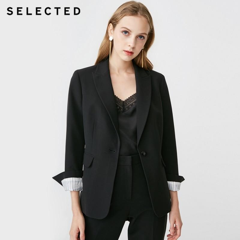 SELECTED veste de costume décontracté pour femme coupe régulière Stretch léger S  419172501-in Blazers from Mode Femme et Accessoires on AliExpress - 11.11_Double 11_Singles' Day 1