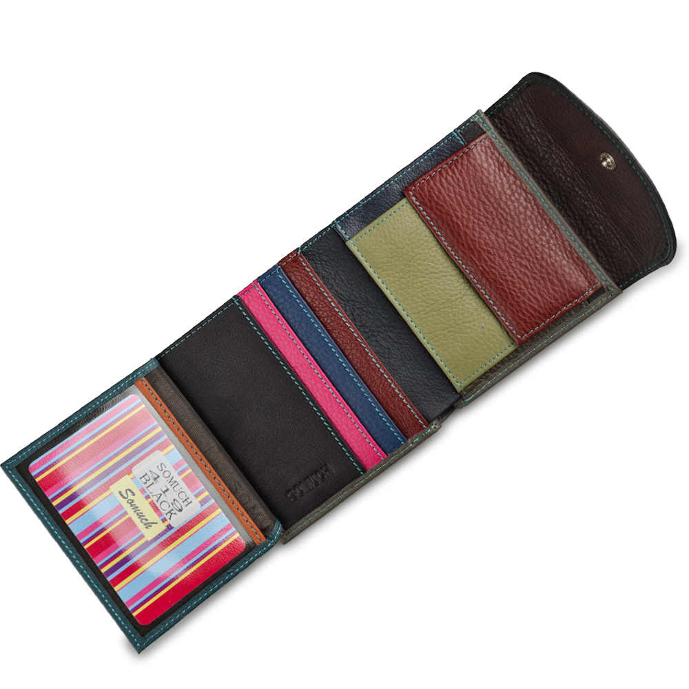 Beth Cat тонкие цветные женские кошельки и кошельки из натуральной кожи Женский мини-Женский кошелек ID держатель для карт маленькие сумки для денег