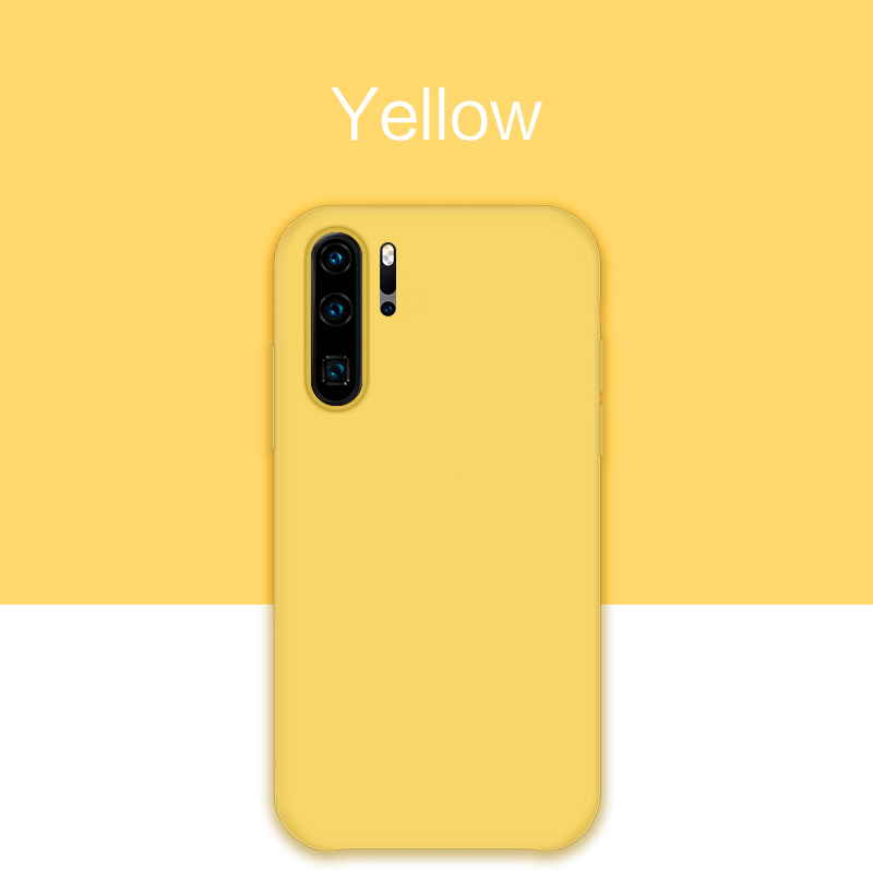Original Liquid Silicone Case For Huawei P20 P30 Lite Y9 2019 Cover Plain Clear Bumper For Huawei P20 P30 Pro Fundas Coque Capa