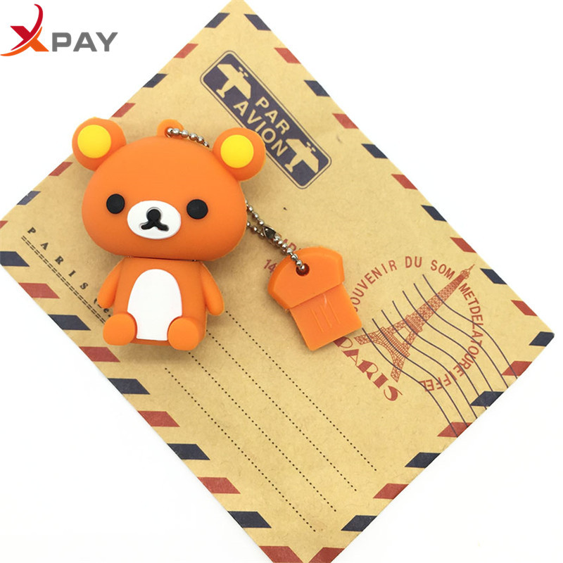 Image 5 - New style USB Flash Drive Lovely Cartoon Bear Pen Drive 64GB 128GB Pendrive Storage real capacity 4GB 8GB 16GB 32GB free shippin-in USB Flash Drives from Computer & Office