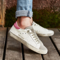 Casual Women Shoes Designer Italy Golden Genuine Leather Goose Ladies Sport Shoes Chaussure Femme Superstar Shoes White Moccasin