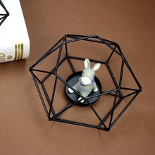 New Wedding Decoration Geometric Iron Candlestick European Ornaments Creative Candle Holder Home Table Decor Accessories
