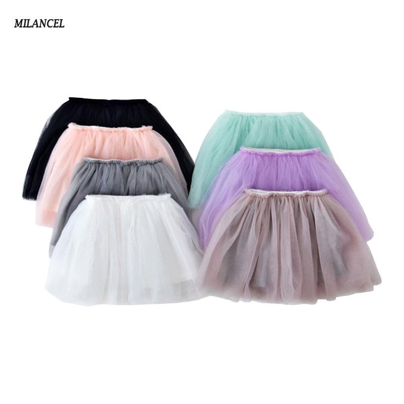2017 New Summer Style Lovely Ball Gown Skirt Girls Tutu Skirt Pettiskirt 7 Colors Girls Skirts for 2-7 Years Old Kids Skirt