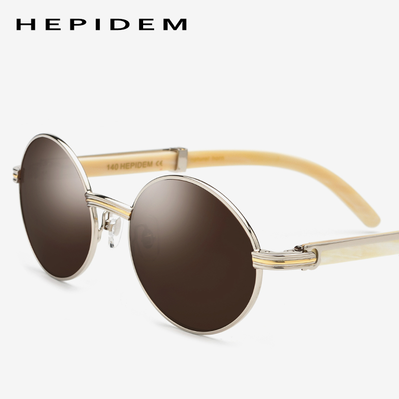New High Quality Glasses Frame Men Round Sunglasses Luxury Sumptuous Oval Eyewear Eyeglasses Carter Buffalo Horn Glasses 0818