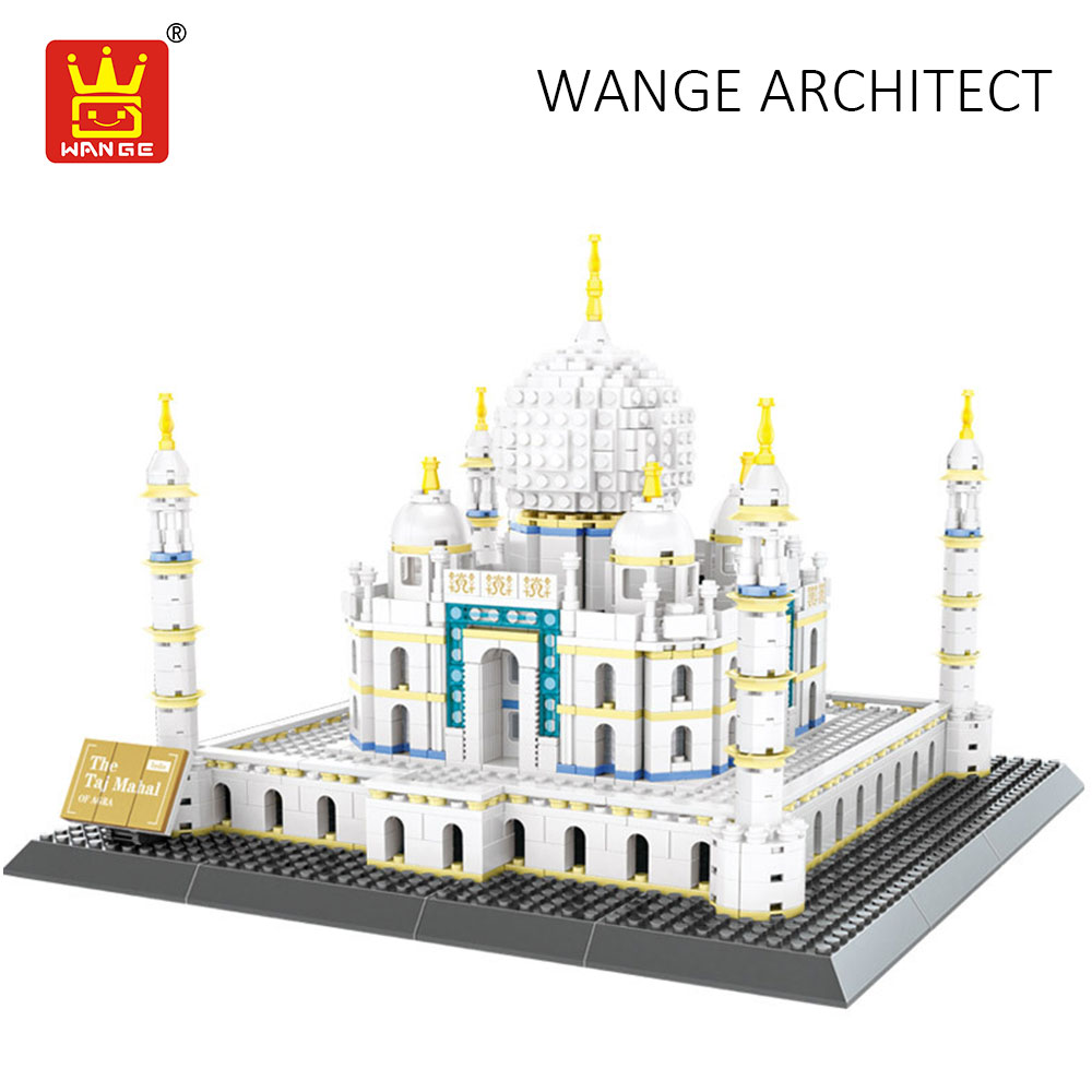 WANGE Taj Mahal Models Architecture Building Blocks Compatible with Assembly Toy DIY Bricks Educational Toys for Children Gifts wange the china hui style architecture model building blocks classic chinese house educational toys for children gifts 5310