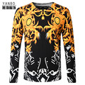 Chinese style fashion personalized printed knitted men sweater 2016 Autumn&Winter new arrival high-quality sweater men M-4XL