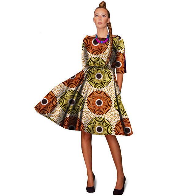 Traditional African Clothing For Women Plus Size Batik Knee Length ...