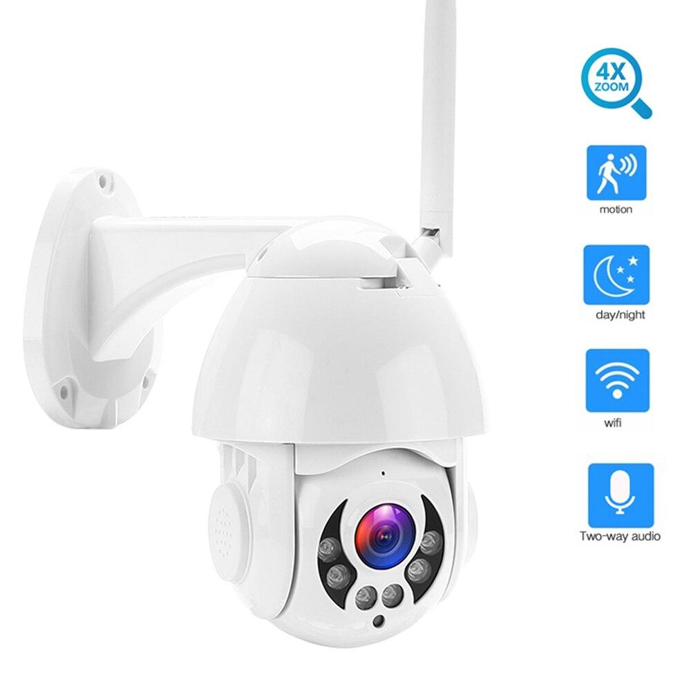 Seesii 1080P PTZ IP Câmera Speed Dome Ao Ar Livre Sem Fio Wi-fi Câmera de Segurança 4X IP66 Pan Tilt Zoom IR Rede vigilância CCTV