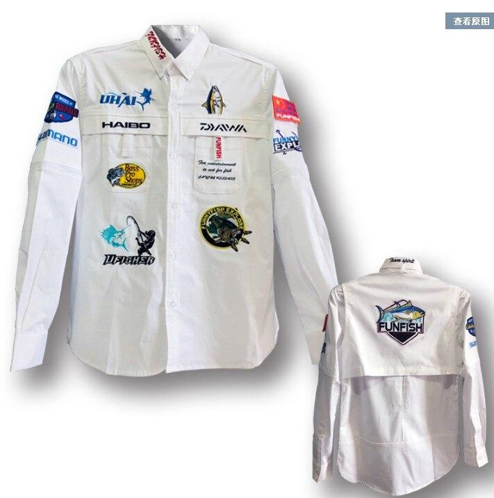 2018 NOUVEAU DAIWA De Pêche vêtements À manches Longues d'été DAWA Respirant Protection Solaire extérieure Ultra-Mince Anti moustique DAIWAS Livraison gratuite