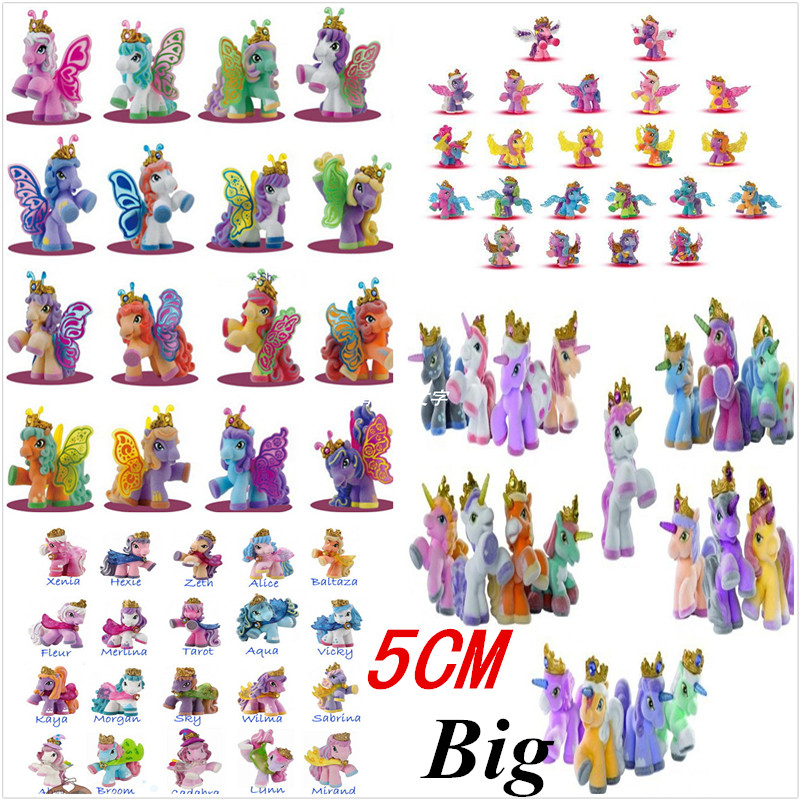 5CM 5Pcs/lot Original Simba Filly Butterfly Stars Witchy Unicorn etc. Little Horse Dolls Action Figure Kid's Christmas Toy Gift simba simba 10 5