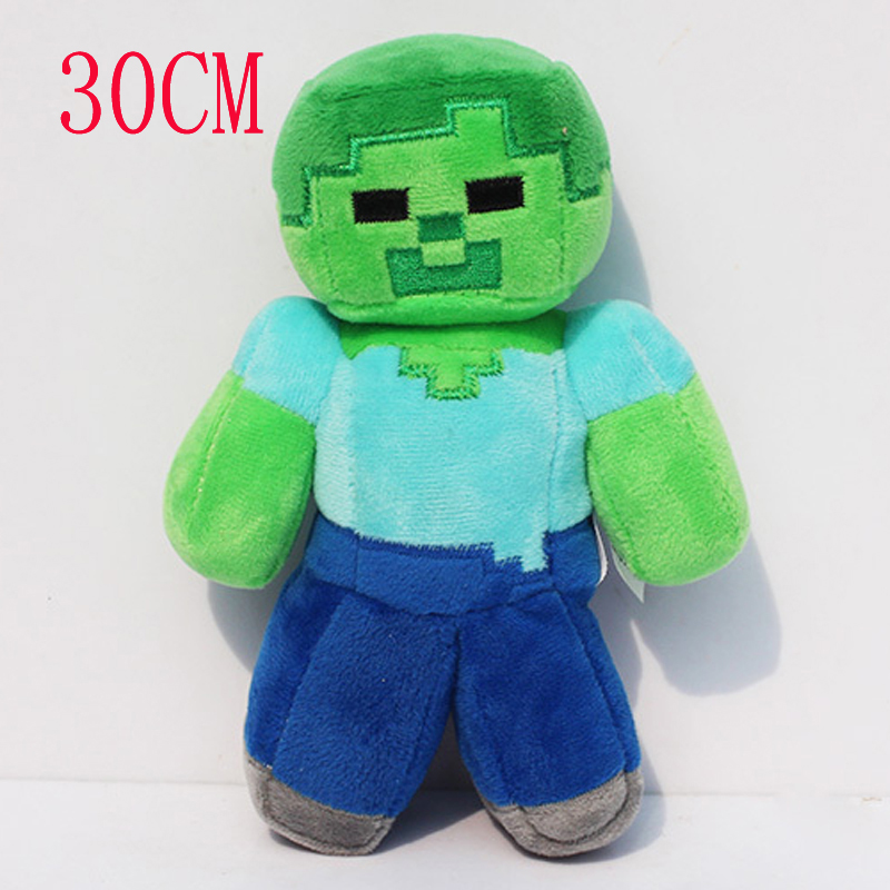 Big Size 30cm Minecraft MC Steve Zombie Plush Stuffed Toys Minecraft Plush Toy Dolls Brinquedos for Kids Children Xmas Gift недорго, оригинальная цена