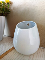 Large White Ceramic Pot Wall Ceramic Vase Wall Mounted Succulent Planter Indoor Wall Gardening Home Decoration