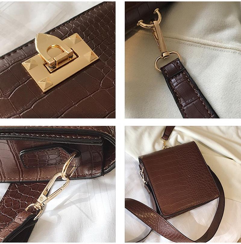 DIINOVIVO Fashion Alligator Female Handbags Designer Crossbody Bags for Women Small Square Bag Shoulder Messenger Purse WHDV0917 21