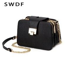Весенняя Новая модная женская сумка через плечо с ремешком на цепочке, дизайнерские сумки-клатчи, женские сумки-мессенджеры с металлической пряжкой