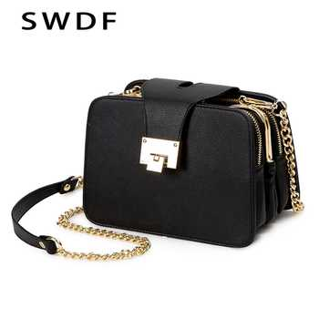 2019 Spring New Fashion Women Shoulder Bag Chain Strap Flap Designer Handbags Clutch Bag Ladies Messenger Bags With Metal Buckle - DISCOUNT ITEM  55% OFF All Category
