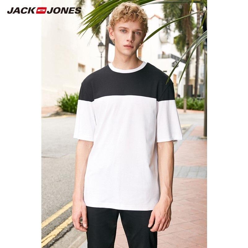 JackJones Men's 100% Cotton Printed Short-sleeved T-shirt Basic E|219101565