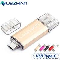 LEIZHAN 2017 New Arrival Flash Drive Memory Stick 16G USB Flash Drive 32G OTG TypeC USB