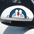 Envío gratis car styling (4 unids/lote) Doraemon de la Historieta pegatina para el coche espejo retrovisor espejo lateral de la puerta etiqueta