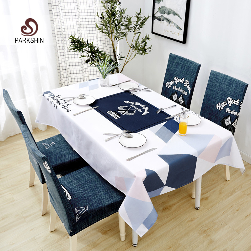 Parkshin Nordic Decorative Tablecloth Home Kitchen Rectangle Waterproof Table Cloths Party Banquet Dining Table Cover 4 Size-in Tablecloths from Home & Garden