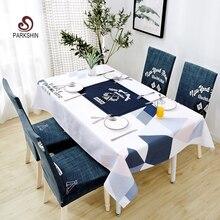 Parkshin Nordic Decorativo Toalha de Mesa Início Cozinha Retângulo Toalhas De Mesa Festa Banquete Mesa De Jantar À Prova D Água Cobrir 4 Tamanho