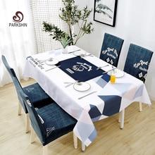 Parkshin İskandinav Dekoratif Masa Örtüsü Ev Mutfak Dikdörtgen Su Geçirmez Masa Örtüleri Parti Ziyafet yemek masası Kapak 4 Boyutu