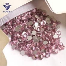 YANRUO 2058NoHF SS16 Light Rose 1440Pcs Crystal Strass Non Hot Fix Flat Back DIY Stick On Rhinestones For Nail Art