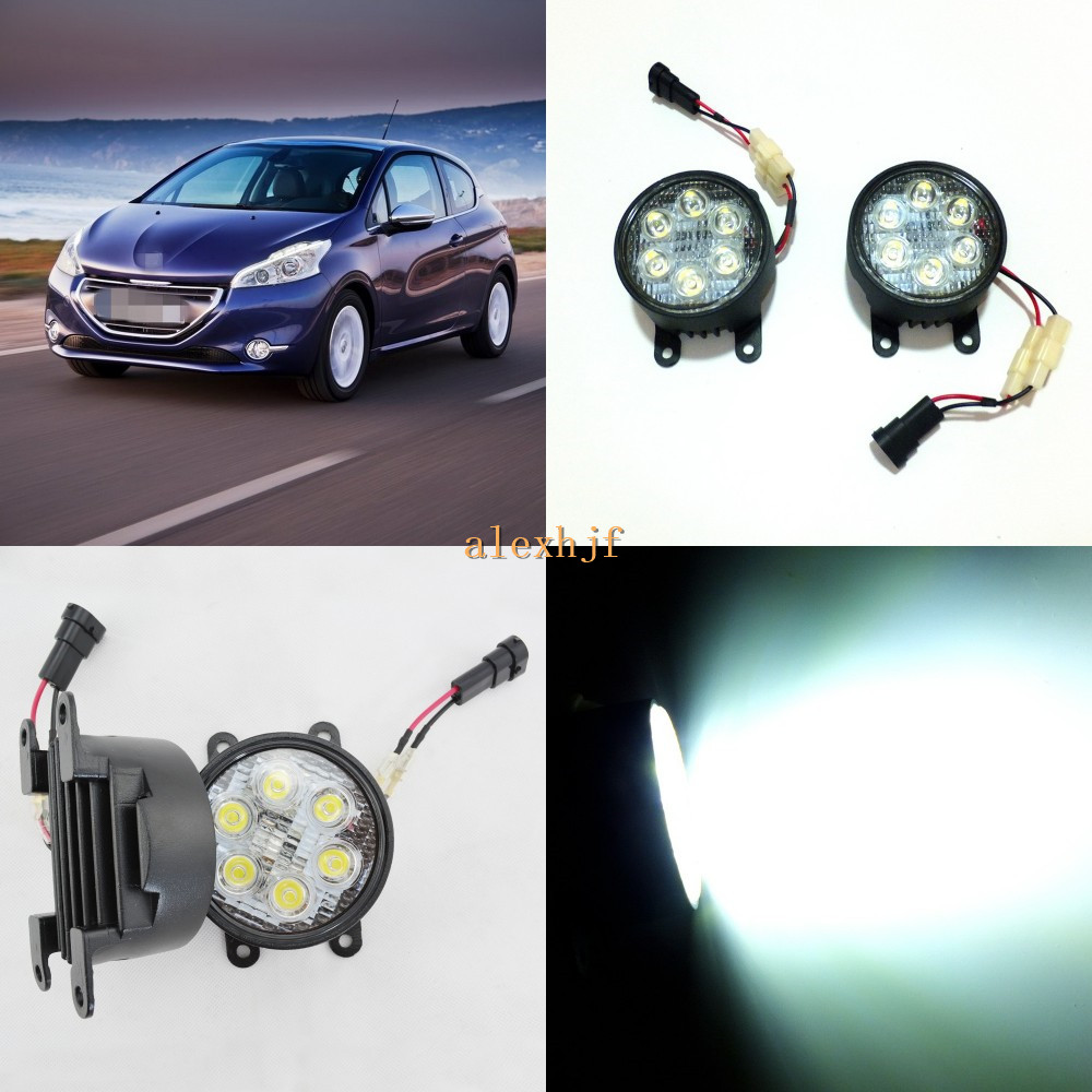 July King 18W 6LEDs H11 LED Fog Lamp Assembly Case for Peugeot 208 2013~ON, 6500K 1260LM LED Daytime Running Lights куплю подшипник 6 208 б1