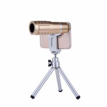 Cheaper With Clip Phone Lentes Kit 12x Telephoto Zoom Lens Telescope Camera Lenses Mobile Tripod For iPhone 4 5 5C 5S SE 6 6S 7 Plus