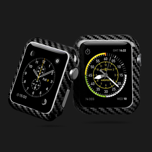 Image 5 - Carbon Fiber Cover For Apple Watch Series 5 4 40mm 44mm Luxury Protective Case For Apple Watch 1 2 3 38mm 42mm Watch Cases Frame