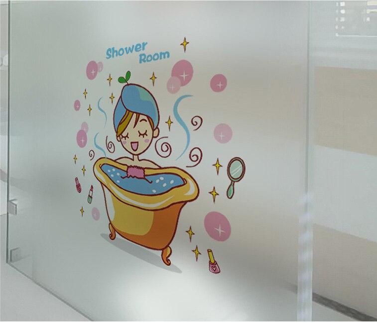 Pretty Girl Bathing Wall Decal Baby Shower Wall Sticker Shower ...