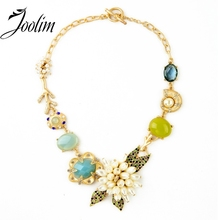 2013 New Luxury Flower Statement Chokers Necklace Designer Jewelry  Free Shipping(Min $20 Can Mix)