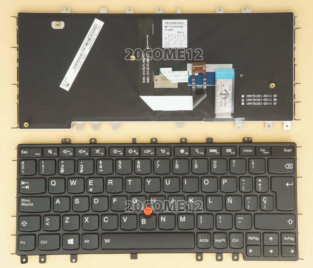 New notebook Laptop keyboard for Lenovo Thinkpad Yoga S1 S240 SP layout new laptop keyboard for lenovo thinkpad t410 t420 x220 t510 t510i t520 t520i w510 w520 series laptop keyboard us layout