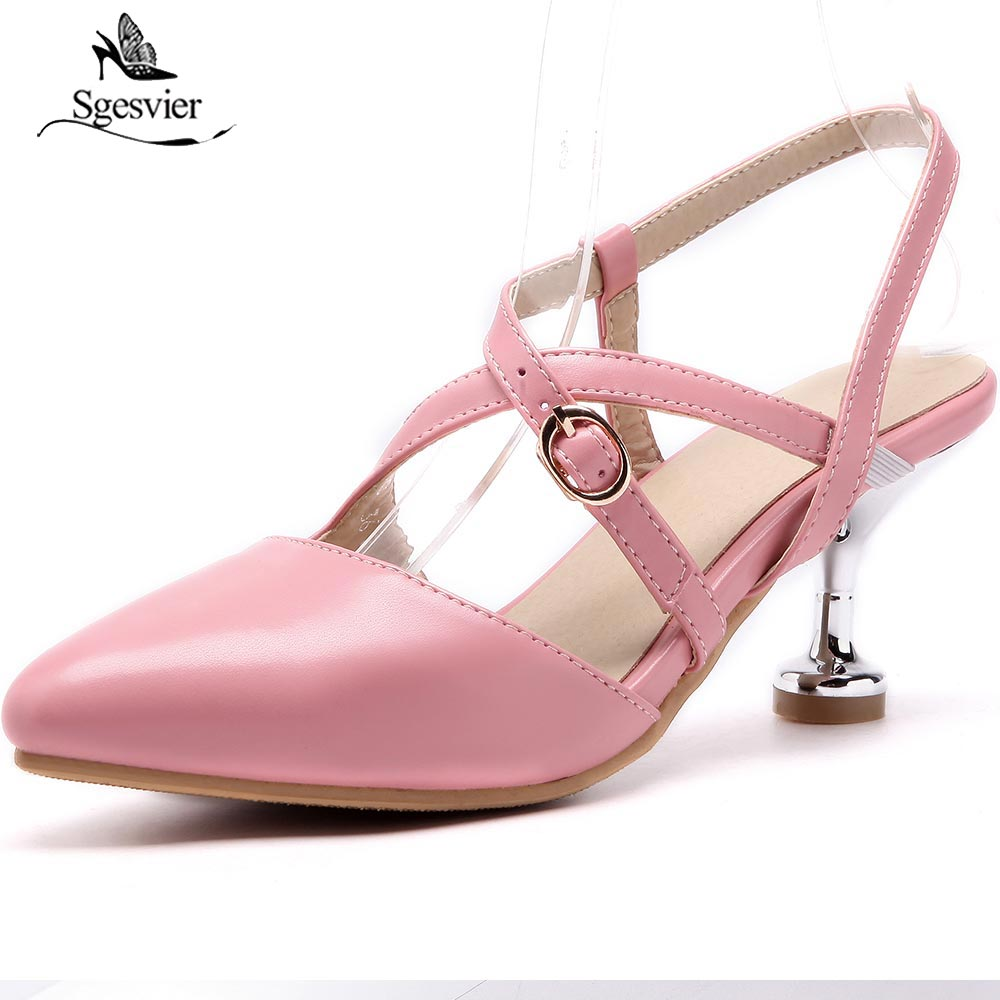 SGESVIER 2018 Новые женские босоножки модные женские туфли сандалии на тонком каблуке для девочек летние туфли женские сандалии для девочек обув...