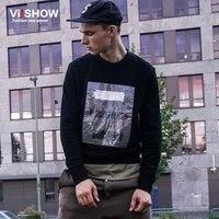 VIISHOW Fashions Men Hoodies Casual Cotton Print Male Pullover Tracksuit Mens Crewneck Sweatshirt New Men S