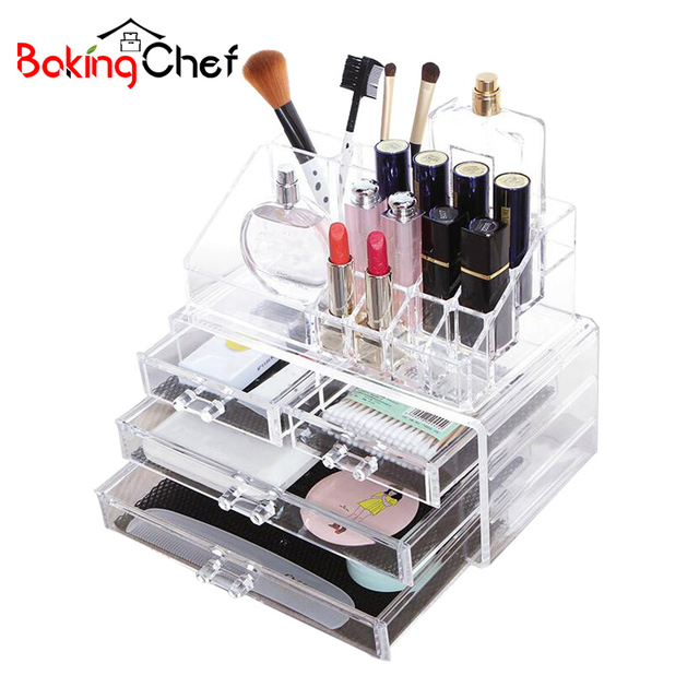 Fashion Transparent Jewelry Storage Box Makeup Container Holder Home  Organizer Accessories Supplies Gear Stuff Product